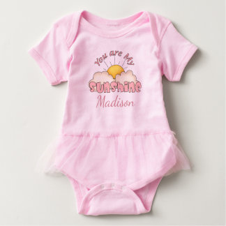 Personalized You Are My Sunshine Baby Bodysuit