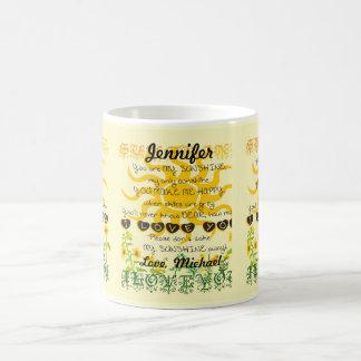 Personalized You Are My Sunshine Basic White Mug