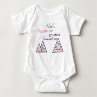 Personalized You are our greatest adventure Baby Bodysuit