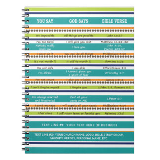 Personalized YOU SAY / GOD SAYS Bible Verses Notebook