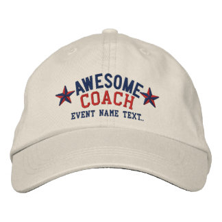 Personalized Your Name Awesome Coach Embroidery Embroidered Hat