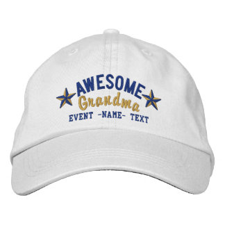 Personalized Your Name Awesome Grandma Embroidery Embroidered Hat