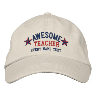 Personalized Your Name Awesome Teacher Embroidery Embroidered Baseball Cap