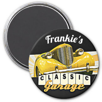 Personalized   Your Name   Classic Car Garage Magnet