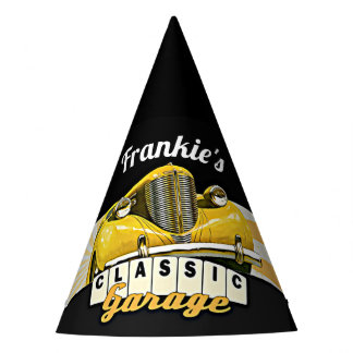 Personalized   Your Name   Classic Car Garage Party Hat