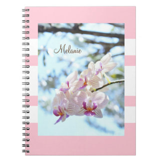 Personalized your name Notebook (Orchid design)