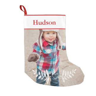 Personalized Your Photo Christmas Red White