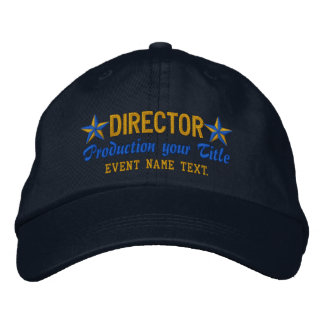 Personalized Your Text DIRECTOR Embroidery Embroidered Cap