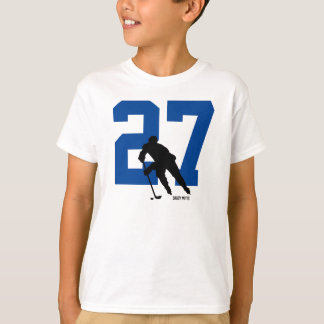 Personalized Youth Hockey Player Number T-Shirt
