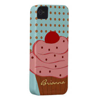 Personalized Yummy Pink Cupcake Dots iPhone Case