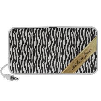 Personalized Zebra Doodle Laptop Speakers