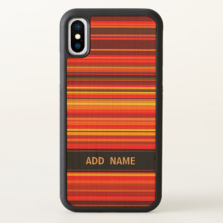 PersonalizedWarm Color Trendy Style Stripe Pattern iPhone X Case