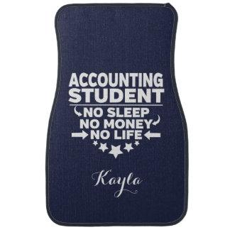 Personalzed Accounting Student No Sleep Money Life Car Mat