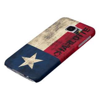 Personalzied Vintage Grunge Flag of Texas