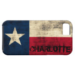 Personalzied Vintage Grunge Flag of Texas iPhone 5 Cases