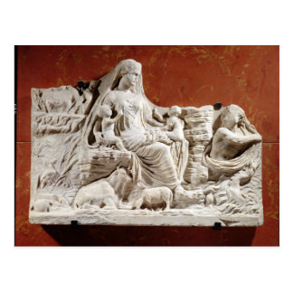 Personification of the earth mother, allegorical r postcard