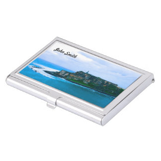 (Personilize) Old San Juan Forts Business Card Case