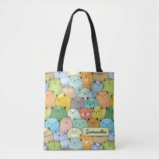 Personilized Super Cute Cat Tote Bag