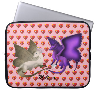 Personlized BFF Butterfly Dragons Laptop Sleeve 2
