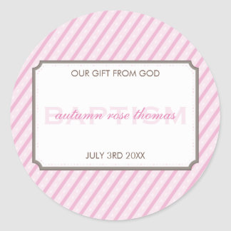 PERSONLIZED EVENT STICKER :: candy stripes 1