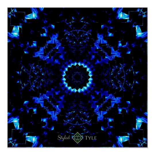 Perspective Blue Night Onyx Poster
