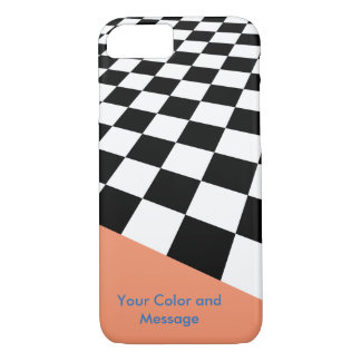 Perspective Checkers Design iPhone 7 Case