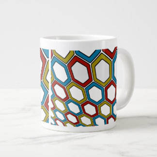 Perspective Hexagons Giant Coffee Mug