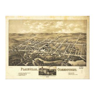 Perspective Map of Plainville Connecticut (1878) Stretched Canvas Prints