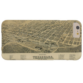 Perspective map of Texarkana Texas and Arkansas Barely There iPhone 6 Plus Case