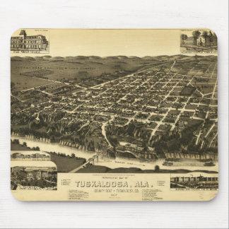 Perspective Map of Tuskaloosa Alabama (1887) Mouse Pad