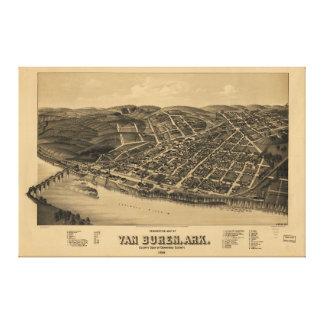 Perspective Map of Van Buren Arkansas (1888) Canvas Prints