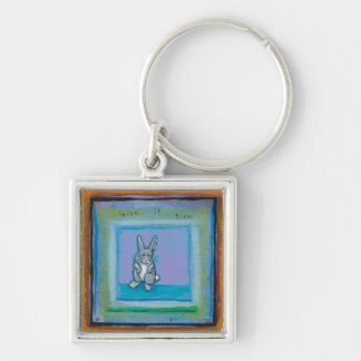 Perspective maturity unique art Old rabbit laughed Key Chain