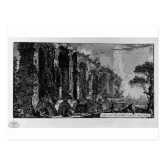 Perspective of the ruins of the aqueduct Giovanni Postcard