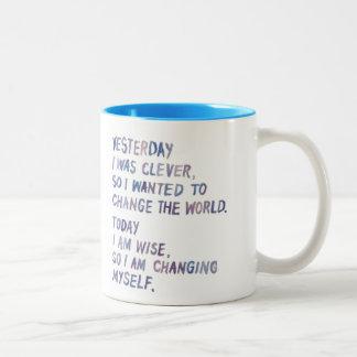Perspective on Change Two-Tone Coffee Mug