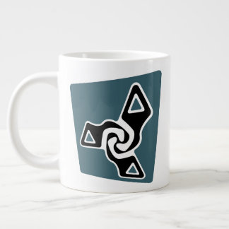Perspective Tri-Arrows Giant Coffee Mug