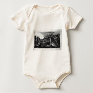 Perspective view of a hotel by Giovanni Battista Baby Bodysuit