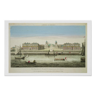 Perspective View of Greenwich Hospital on the Tham Poster