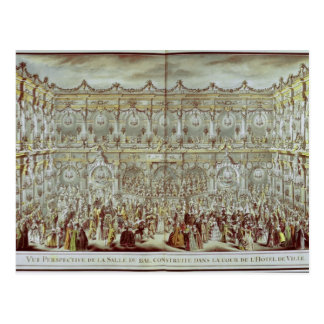 Perspective view of the ballroom constructed postcard