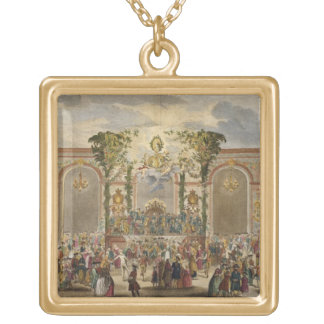 Perspective View of the Interior of the Room of th Square Pendant Necklace