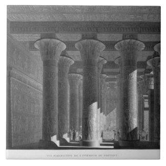 Perspective view of the portico interior, Esne (La Large Square Tile