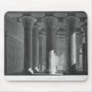 Perspective view of the portico interior, Esne (La Mouse Pad