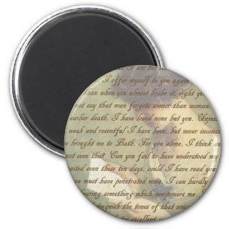 Persuasion Letter 6 Cm Round Magnet