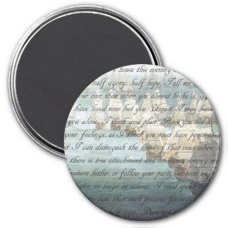 Persuasion Letter 7.5 Cm Round Magnet