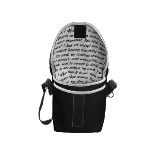 Persuasion Text Courier Bag