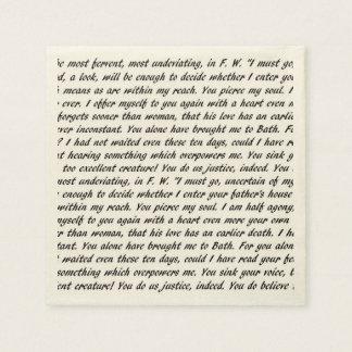 Persuasion Text Disposable Napkin