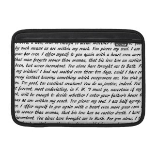 Persuasion Text MacBook Sleeve