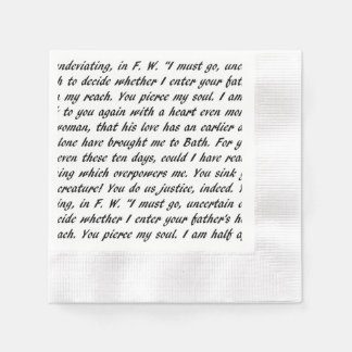 Persuasion Text Paper Napkins