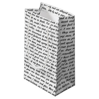 Persuasion Text Small Gift Bag