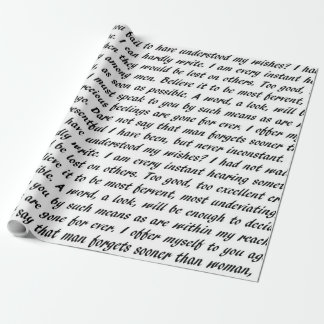 Persuasion Text Wrapping Paper