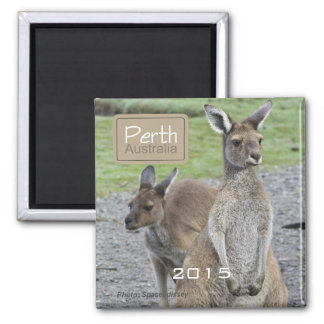 Perth Australia Kangaroo Fridge Magnet Change Year